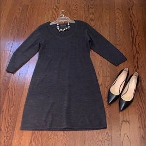 Connected Apparel- XL charcoal grey sweater dress